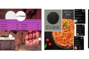 Freshman restaurant webpage header